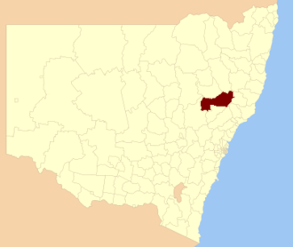 Upper Hunter Shire - Location in New South Wales