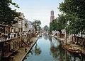 Utrecht - Oude Gracht en Hamburgerbrug 1900.jpg
