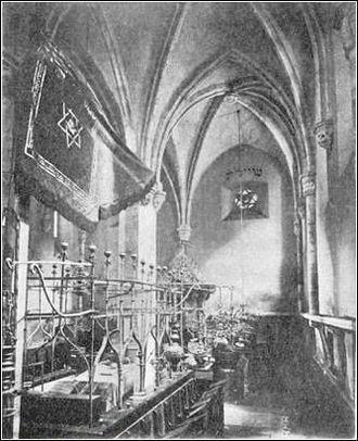 Old New Synagogue - Image: V10p 158001 Prague