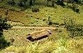 VW bus near farm shelter along road in northern Sierra Leone (West Africa) (851713453).jpg