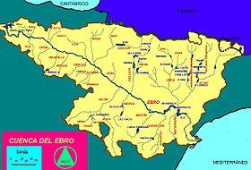 Localización del río Ega en la cuenca del Ebro