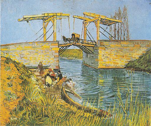 Van Gogh -Die Brücke von Langlois in Arles mit Wäscherinnen