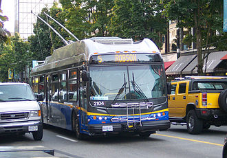 TransLink (British Columbia) - One of the newer trolley buses introduced in 2006