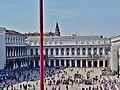 Venezia Basilica di San Marco Terrasse Blick auf die Piazza San Marco 8.jpg