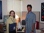 Veronika Soukhovitskaya and Anil Jindia working in the Public Affairs Office.jpg