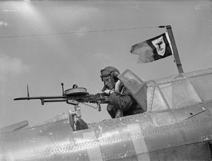 Vickers K machine gun - Used on a Fairey Battle light bomber
