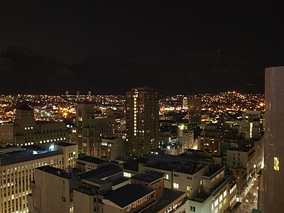 View from Southern Sun Cape Sun Hotel (Night).jpg