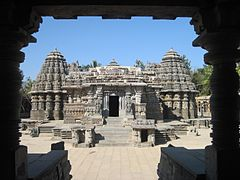 View of Chennakesava temple from entrance porch