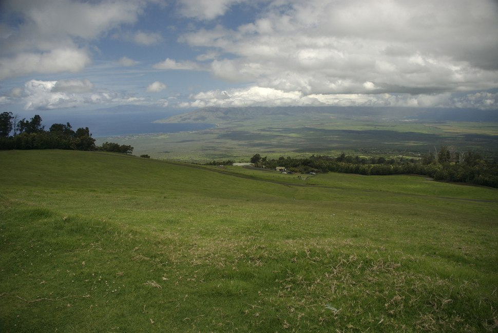 View of Maui from Polipoli State Park
