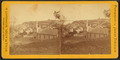 View of Stillwater from a hill, including businesses, houses, and a church, by James Sinclair.png