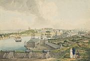 View of Sydney Cove from Dawes Point by Joseph Lycett page74 a5491074