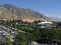 View of Y Mountain and BYU Campus from LaVell Edwards Stadium, Provo, Utah (68942013).jpg