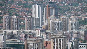 Novo Sarajevo - Bosmal City Center Towers in May 2010