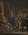 Vilhelm Rosenstand - Holberg overværer en prøve på Erasmus Montanus - KMS1488 - Statens Museum for Kunst.jpg