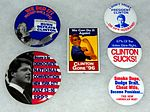 Vintage Presidential Campaign Buttons For Bill Clinton, 42nd President Of The United States From 1993 To 2001 (23552489610).jpg