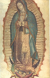An image of Our Lady of Guadalupe.