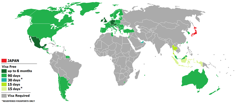 Visa policy of japan wikipedia countries which are allowed visa free entry to japan gumiabroncs Choice Image