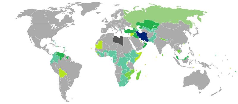 iran passport visa free countries 2018