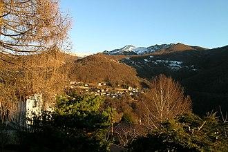 Cimadera - Image: Vista dal balcone Lugano