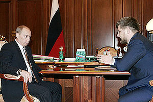 Ramzan Kadyrov - Kadyrov (right) with Russian President Vladimir Putin.
