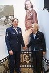 WASP Dorothy Kocher Olsen and Master Sgt. Marti Stansbury.JPG