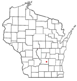 Otsego, Wisconsin - Image: WI Map doton Otsego