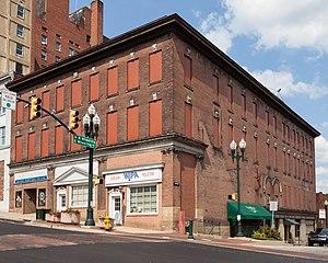WJPA - WJPA's storefront on Main St. and East Wheeling St. in Washington, Pennsylvania.