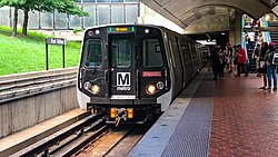 WMATA Kawaski Consists on the Green Line at Fort Totten.jpg
