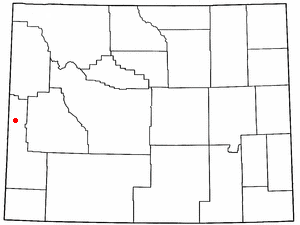 Turnerville, Wyoming - Image: WY Map doton Turnerville