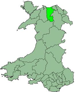 Colwyn district in Wales