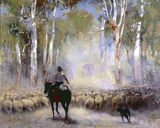 Droving - Image: Walter Withers The Drover, 1912