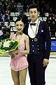 Wang Xuehan and Wang Lei at the 2014 Trophée Éric Bompard - Awarding ceremony.jpg