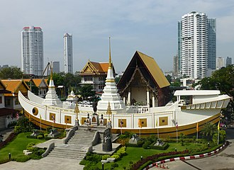 Rama III - Wat Yannawa was patronised by King Rama III, he ordered the temple enlarged and constructed many new structures within.