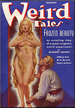 Weird Tales cover image for February 1938