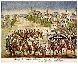 The troops of Prince Josias of Coburg in Bucharest, 1789
