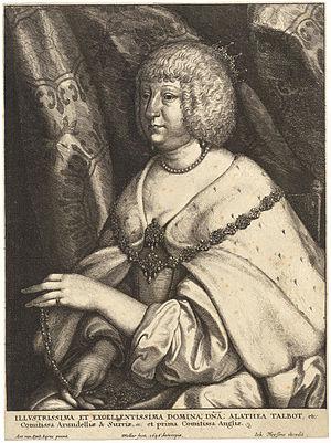 Alethea Howard, Countess of Arundel - Wenceslas Hollar - Alethea, Countess of Arundel