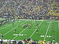 Western Michigan vs. Michigan 2011 01 (Michigan warming up).jpg