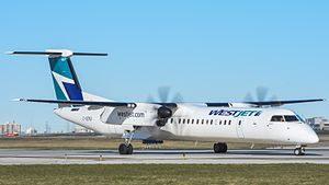 WestJet Encore - WestJet Encore Bombardier Dash 8 Q400 at Pearson International Airport