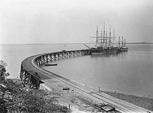 Stokes Hill Wharf - Stokes Hill Wharf in 1887