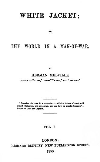White-Jacket - First edition title page