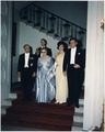 White House Dinner in honor of President of Tunisia. President Habib Bourguiba, Mrs. Bourguiba, Mrs. Kennedy... - NARA - 194199.tif