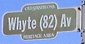 Old Strathcona - Image: Whyte (82) Av