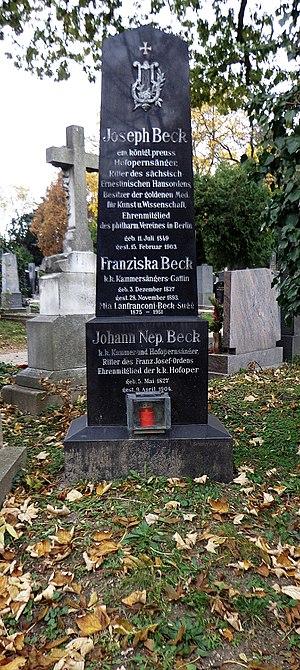 Joseph Beck (baritone) - Vienna, Zentralfriedhof: The grave of Johann Nepomuk Beck and Joseph Beck
