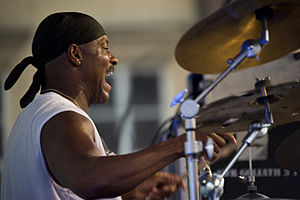 Sonny Emory - Sonny Emory performing with Jeff Lorber Fusion in Warszawa, Poland on August 4, 2012