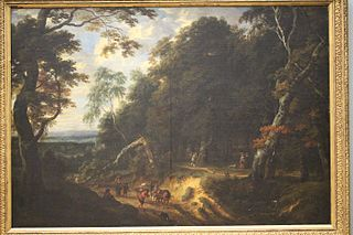The Sonian forest with figures