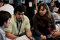 Wikimania 2009 - Chatting (5).jpg