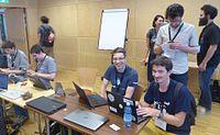 Wikimedia Hackathon Vienna 2017 attendees 01.jpg