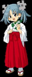 Wikipe-tan as an anime-like miko.
