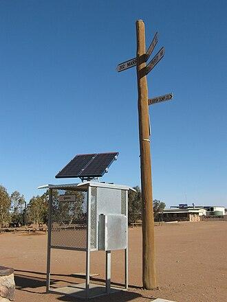 William Creek, South Australia - Australias first public solar phone
