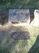 William F. Perry Monument plaque